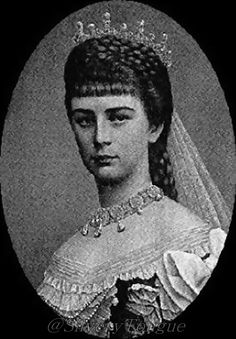 Empress Sissi in a traditional Hungarian gown.