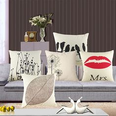 New Arrival Vintage Cotton Leaf Animal Linen Pillow Case Sofa Throw Cushion Cover Home Decor BHUL #Affiliate