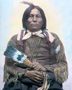 Gonkon. A Kiowa chieftain. He was part Apache. c. 1894