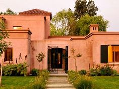 House entrance decoration dream homes 64 Ideas Spanish Style Homes, Spanish House, Fachada Colonial, Brick Architecture, American Houses, Castle House, Cottage Style Homes, House Paint Exterior, House Entrance