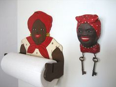 Aunt Jemima paper towel holder