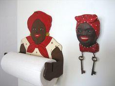 Aunt Jemima paper towel holder