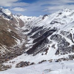 """Val d'Isere from """"La Face"""""""
