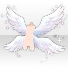 (Back Accessories) Gorgeous Angel Wings ver. Character Costumes, Character Outfits, Angel Wings Drawing, Anime Angel Girl, Winged Girl, Wings Design, Cocoppa Play, Drawing Clothes, Anime Eyes