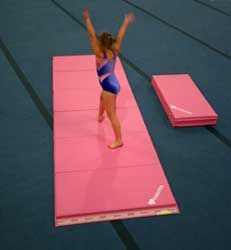 pink tumbling mat perfect for your little gymnast
