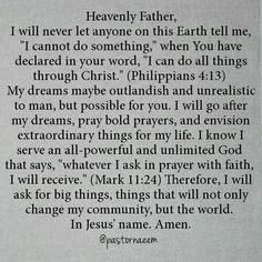 Ask for it! No matter how big or how small, nothing is impossible for our God!