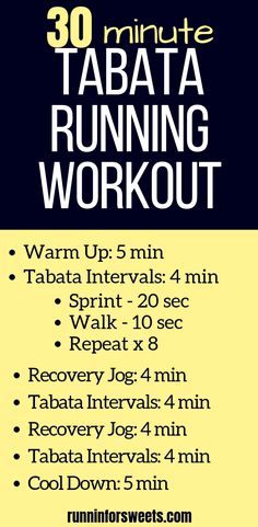 This 30 minute Tabata running workout is a perfect way to incorporate interval training and burn fat with each workout. Try this Tabata workout on the treadmill, track or right outdoors. This simple workout is an easy way to increase running fitness and b Interval Running Workouts, Speed Workout, Track Workout, Easy Workouts, Outdoor Running Workouts, Hiit Run, Beginner Tabata Workouts, Running Intervals, Running Workout Plan