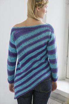 Naisen vinoraidallinen neulepusero Novita Puro Batik | Novita knits