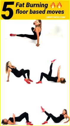 5 FLOOR BASED WEIGHT LOSS EXERCISES - these fat burning moves are total body sculpting. Because you are using so many muscles is why these moves help to increase your calorie burn making them fat burning. Lucy xx Aerobic-Übungen ASK LUCY Fitness Workouts, Fitness Motivation, Sport Fitness, Body Fitness, Physical Fitness, Health Fitness, Training Fitness, Fitness Plan, Pilates Workout