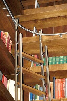 AK Vario Telescoping Library Ladder Combines The Flexibility Of Curved Track
