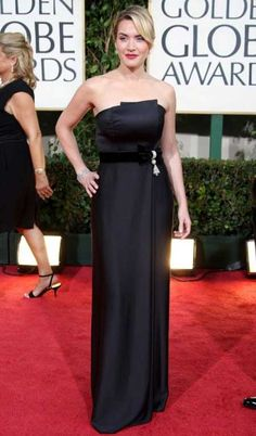 Gowned in Yves Saint Laurent   Kate Winslet