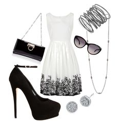 Love the dress! But I would switch out the stilettos for a cute pair if flats.