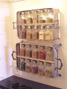 Casserole spice rack  | iVillage.ca: wow! - this would make great craft room storage - I already love my spice cabinet and no room for this in the kitchen.