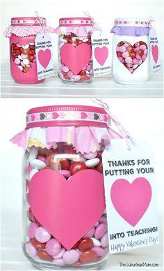 Valentine's Day Mason Jar DIY Creations – The Cottage Market Valentines For Mom, Teacher Valentine, Valentine Day Crafts, Valentine Cookies, Valentine Gifts Ideas, Dinosaur Valentines, Saint Valentine, Mason Jar Crafts, Mason Jar Diy