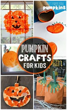 Easy Pumpkin Crafts for Kids to Make this Fall #Halloween craft for kids | CraftyMorning.com