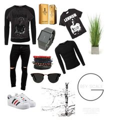"""""""Oxford Circus"""" by nimotalai on Polyvore featuring Doublju, Pull&Bear, Old Navy, adidas Originals, Nixon, Paco Rabanne, Ace and Distinctive Designs"""