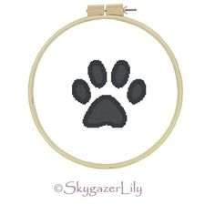 This easy cross stitch pattern for an adorable puppy dog paw print. This would be wonderful for a sweatshirt for your favorite dog lover! It would also be cute on a tote bag, on a dog bed, or as a wall hanging.    Skill level: Beginner    Size: Completed piece measures 5.6 x 5 using 14 count fabric.  Colors: 2 DMC colors (Also mapped to ANC and JPC colors.)  Stitches: all full stitches, no specialty stitches  Stitch Count: 78 x 72    The pattern will be printable via a .pdf file. The file…