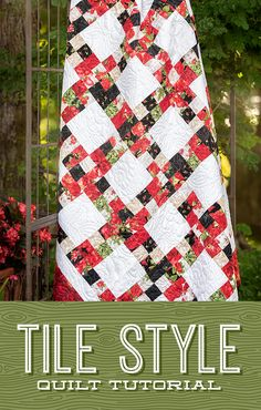 Jenny Doan can find inspiration for a quilt anywhere, even a tile floor! Find your inspiration and join Jenny in stitching up the Title Style quilt! Follow the link below to watch this FREE quilting tutorial! #MissouriStarQuiltCo #JennyDoan #TileStyleQuilt #StripQuilt #JellyRollQuilt #Quilting #Quilt #QuiltPattern #QuiltingTutorial #Sewing #EasySewingProjects #HowToQuilt #FabricCrafts #QuiltBlockPatterns #QuiltBlocks #DIYHomeDecor #HomeSewingPatterns Jellyroll Quilts, Easy Quilts, Scraps Quilt, Star Quilts, Missouri Star Quilt Tutorials, Quilting Tutorials, Quilting Tips, Quilt Block Patterns, Canvas Patterns