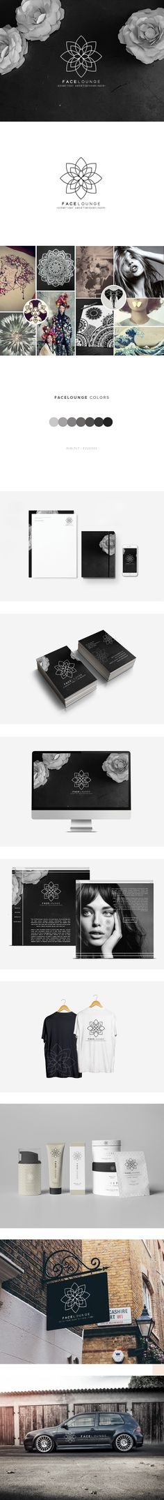 FaceLounge Branding on Behance                                                                                                                                                                                 More http://jrstudioweb.com/diseno-grafico/diseno-de-logotipos/