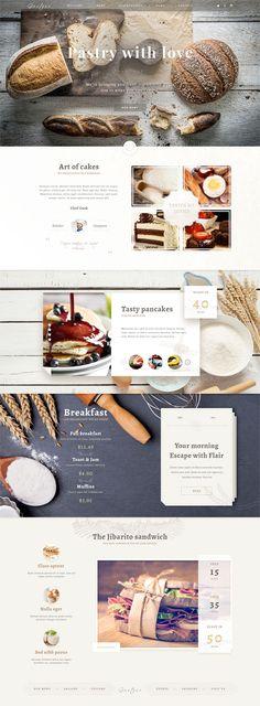 Bakery Photoshop website template