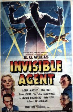 Ilona Massey Jon Hall film The Invisible Agent 35m-1948