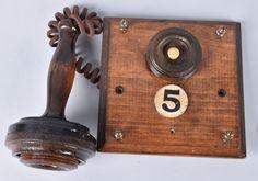 A copy of Alexander Graham Bell's 1878 Butterstamp wall telephone