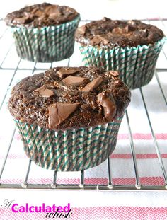 A Calculated Whisk: Double Chocolate Zucchini Muffins (Gluten free, Paleo)
