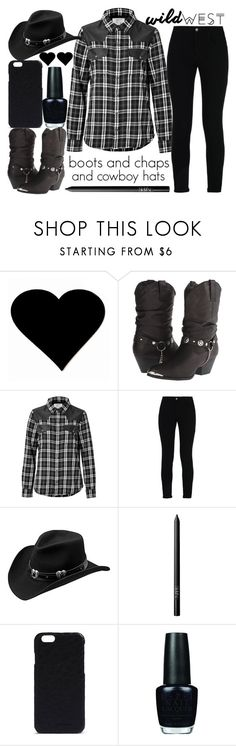 """wild west style"" by j-n-a ❤ liked on Polyvore featuring Dingo, Current/Elliott, STELLA McCARTNEY, Master Hatters of Texas, NARS Cosmetics, Rick Owens, OPI and wildwest"