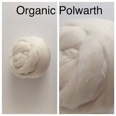 Organic Polwarth Top Undyed / Polwarth Roving Ecru / by takufiber