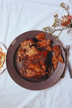 Caroline Barty recipe for pulled pork with spiced carrot and fennel salad