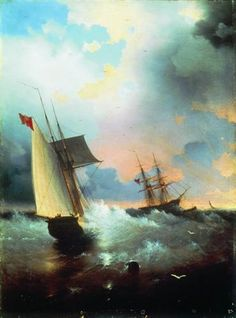 Sailboat - Ivan Aivazovsky - Completion Date: 1859