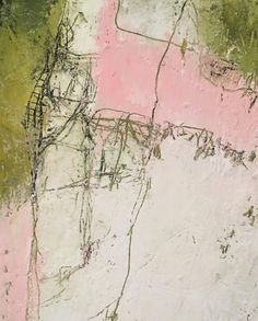 Part of a work in progress. I think the cherry blossoms are breathing themselves into everything. Contemporary abstract art for modern home decor