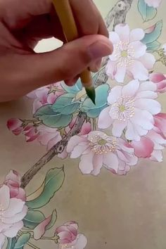 Feel the charm of Chinese Gongbi botanical painting original Chinese flower fine art ink wash painting Chinese brush painting Asian watercolor flower art Custom Chinese painting please direct message me ^^