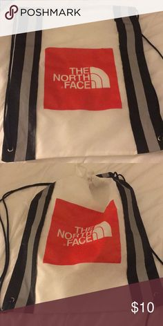 f648bc30a897 North Face Cinch Backpack with reflective strips Never Used. The North Face  Bags Backpacks North