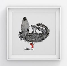 Wall art/ Nursery art/ Baby nursery decor/ Little Red Riding Hood / Birthday gift / Baby shower / Gift for her  The perfect baby shower gift for elephant lovers! You will love this print! ▲ Limited edition (100 prints) art print by Illustation. ▲ Printed on high quality print paper (300gsm).  ▲ Sizes:  30/30 cm = 11,8/11,8  23/23 cm = 9/9  12/12 cm = 4,7/4,7  ▲This listing is for the prints only. Frames and mounts are not included and any additional pictures shown with this item are merely…