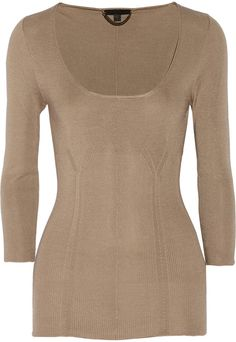 Burberry Fine-knit silk sweater on shopstyle.com
