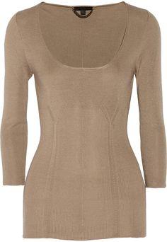 Burberry Fine-knit silk sweater on shopstyle.com