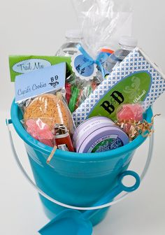 similar to our beach wedding welcome baskets