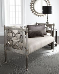 """""""Celine"""" Settee at Neiman Marcus. Would love this for the dining room!"""