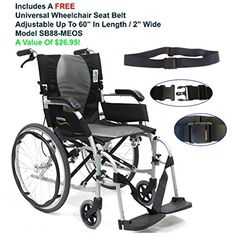 Karman S2512F18SS  ERGO FLIGHT  S2512 18 Seat Width Ultra Lightweight Ergonomic Wheelchair Pearl SilverFixed Wheel Fixed Armrests Detachable footrest  FREE Wheelchair Seat Belt -- This is an Amazon Associate's Pin. Click the VISIT button for detailed description on Amazon website.