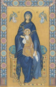 Mother of God icon Byzantine Icons, Byzantine Art, Blessed Mother Mary, Blessed Virgin Mary, Religious Icons, Religious Art, Architecture Religieuse, Face Icon, Russian Orthodox