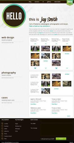 Creative portfolio style premium WordPress theme from Karma Themes