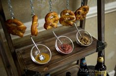 Your guests will flip for a soft pretzel station at your wedding! | Maureen Cotton Photography