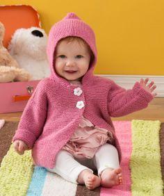 Strickmuster für Gemütliche Kapuzenjacke für Babies