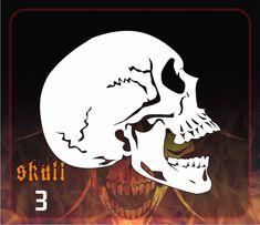 CAS Professional Airbrush Stencil - Skull 3 - 'Profile'