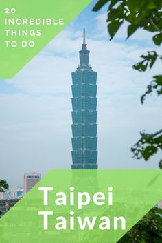 Planning a trip to Taiwan? Here is our list of 20 things to do in Taipei, the capital city of Taiwan with all sorts of fun things to do for every traveler Travel Advice, Travel Guides, Travel Tips, Travel Plan, Travel Info, Taiwan Travel, Asia Travel, Places To Travel, Travel Destinations
