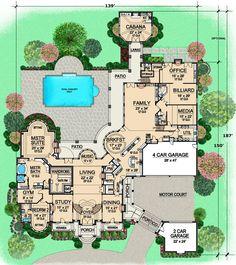 house plan 5445 00080 european plan 15079 square feet 7 bedrooms 9 bathrooms