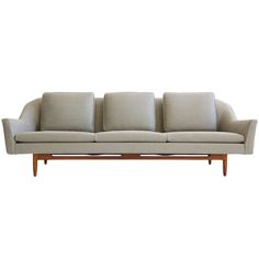 Jens Risom Three Seat Sofa | From a unique collection of antique and modern sofas at http://www.1stdibs.com/furniture/seating/sofas/