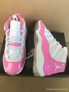 de8cd146613 2017 Kids Air Jordan 11 Pink White  sneakers Copuon Code Jordan Shoes For  Kids
