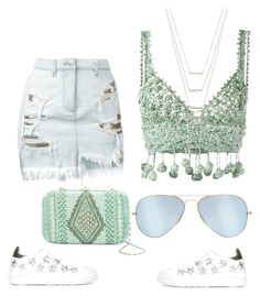 """""""Summer style"""" by women-miki ❤ liked on Polyvore featuring Chiara Ferragni, Rosie Assoulin, Versus, G-lish, ERTH and Ray-Ban"""